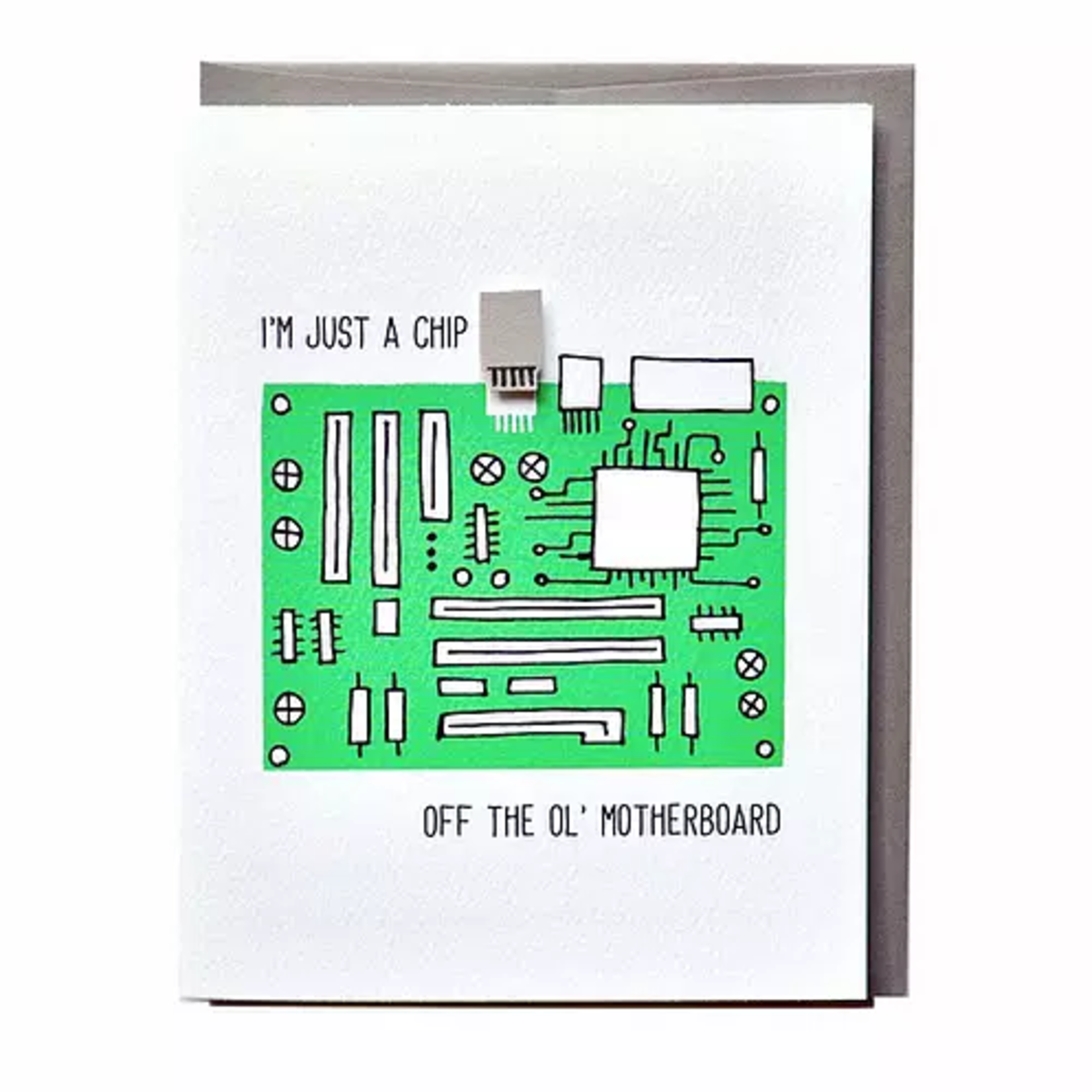 Cracked Designs Motherboard Computer Greeting Card