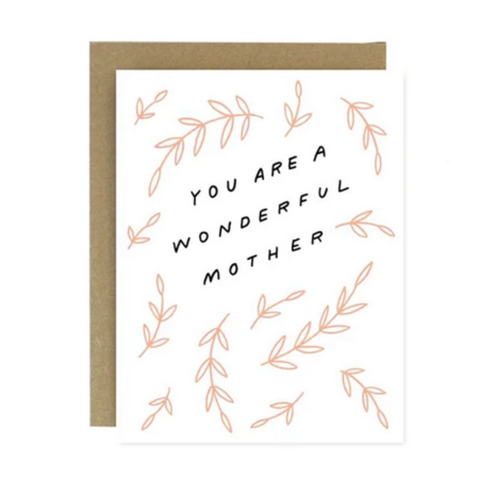 Worthwhile Paper Wonderful Mother Pink Leaves Greeting Card
