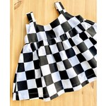Donetta's Designs B&W Checkered Flag Dress