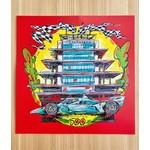 Indy 500 Racecar 11x11 Art Print