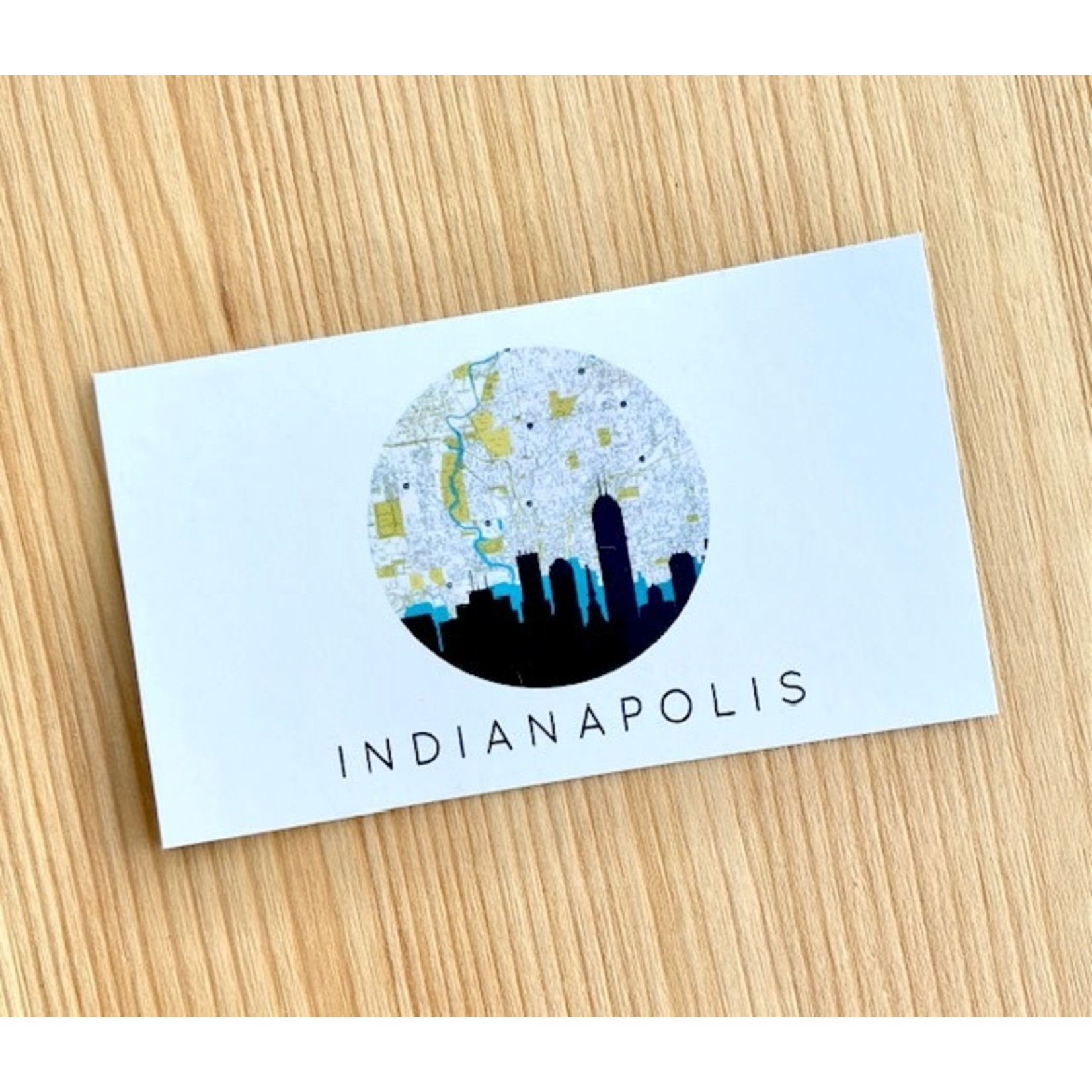 Paperfinch Design Circle Indianapolis Skyline Rectangle Magnet