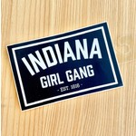 United State of Indiana Indiana Girl Gang Rectangle Sticker