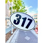 United State of Indiana 317 White Oval Sticker
