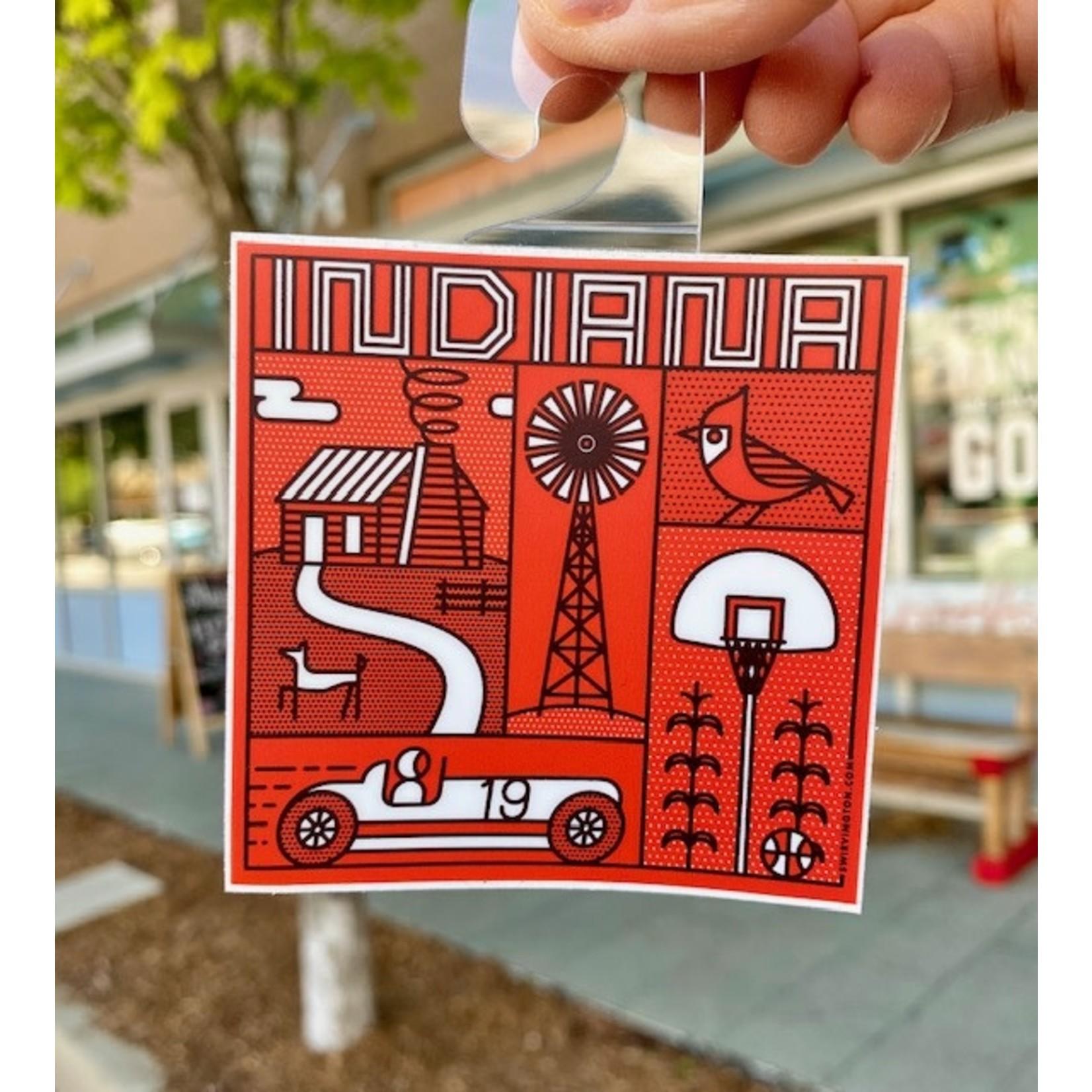 Swirvington Indiana Elements Vinyl Sticker