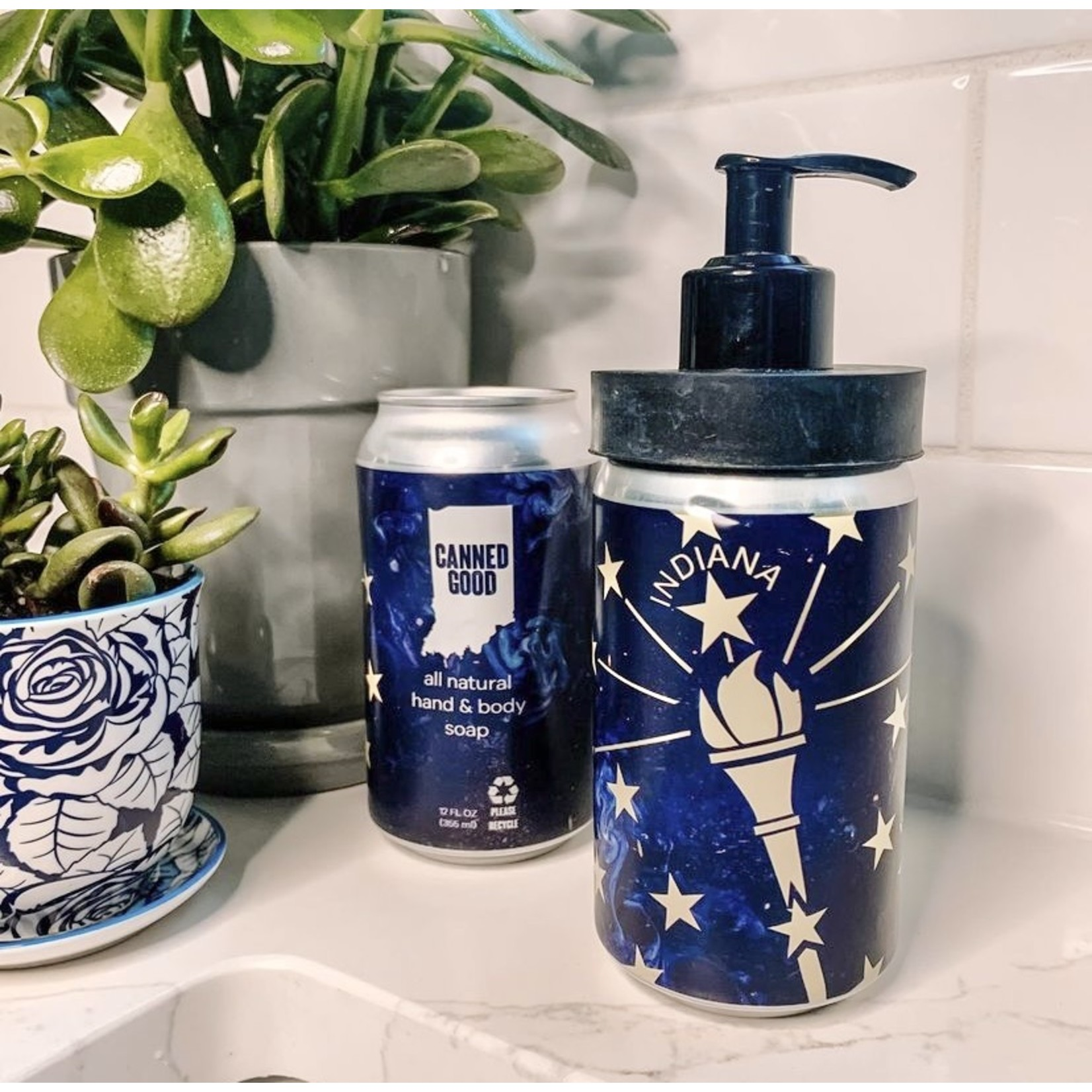 Indiana-Themed Canned Soap + Pump Set