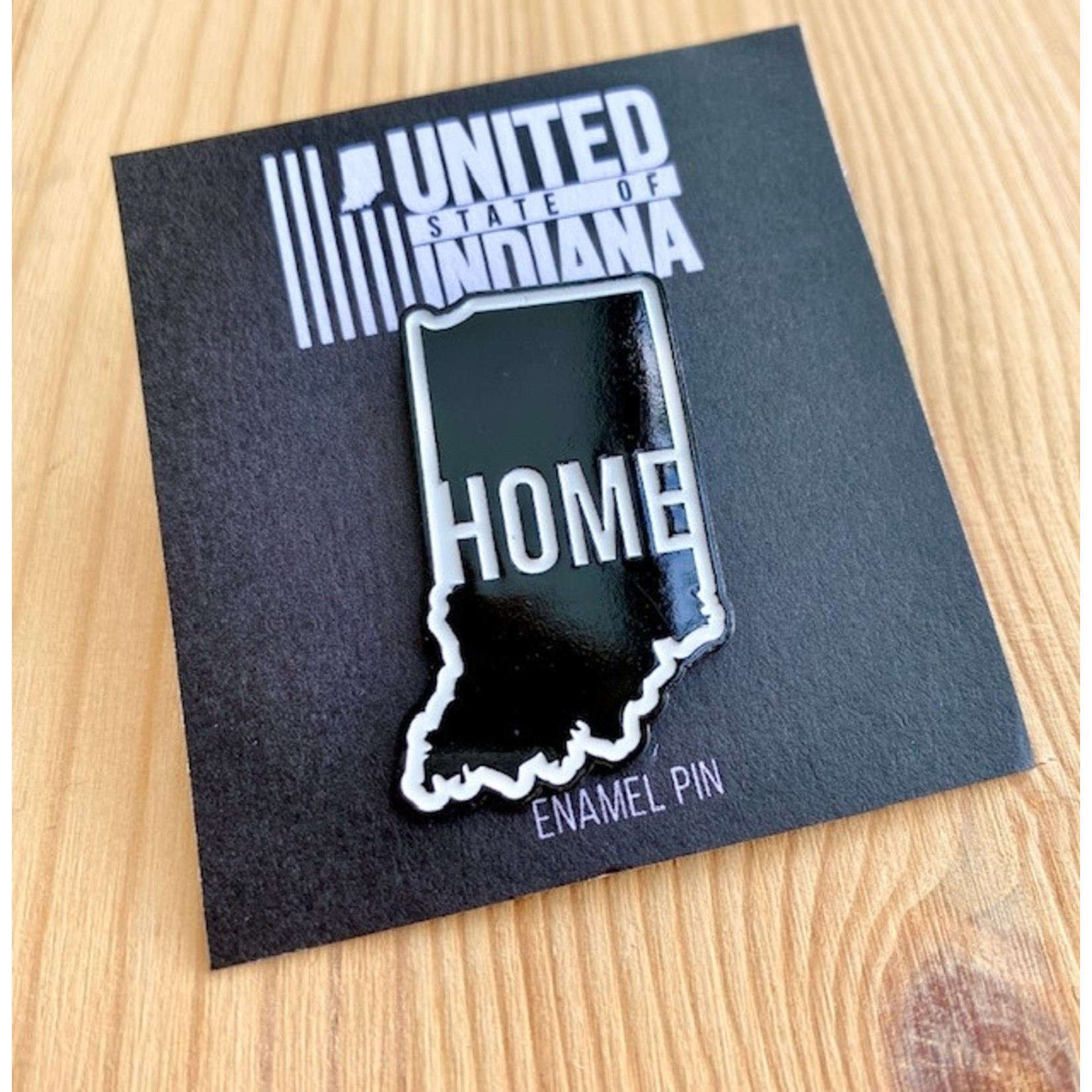 United State of Indiana This Is Home Indiana Enamel Pin