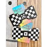 Perler Tricks Black Checkered Perler Bead Bow Tie