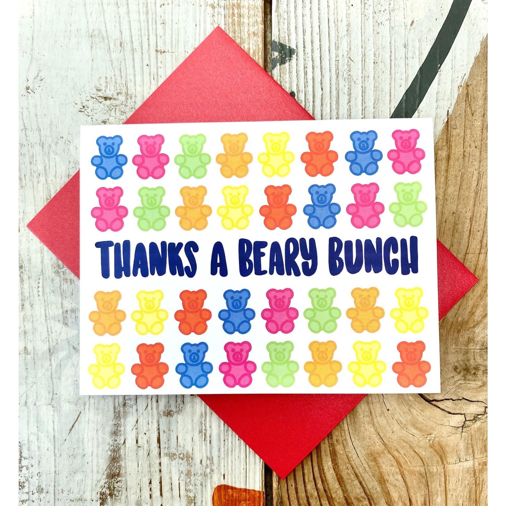 Fiber and Gloss Thanks Beary Bunch Gummy Bear Greeting Card