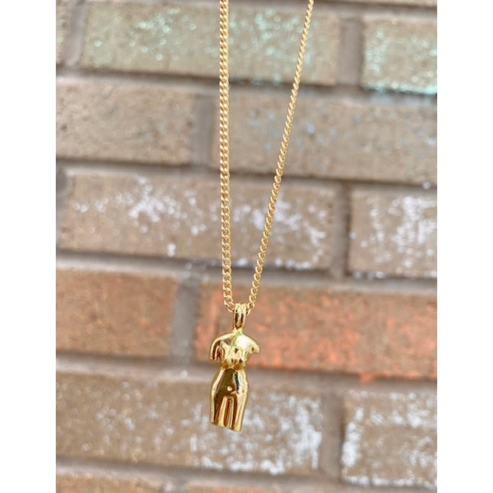 Oceanne (POC) Goddess Body Gold-Plated Necklace