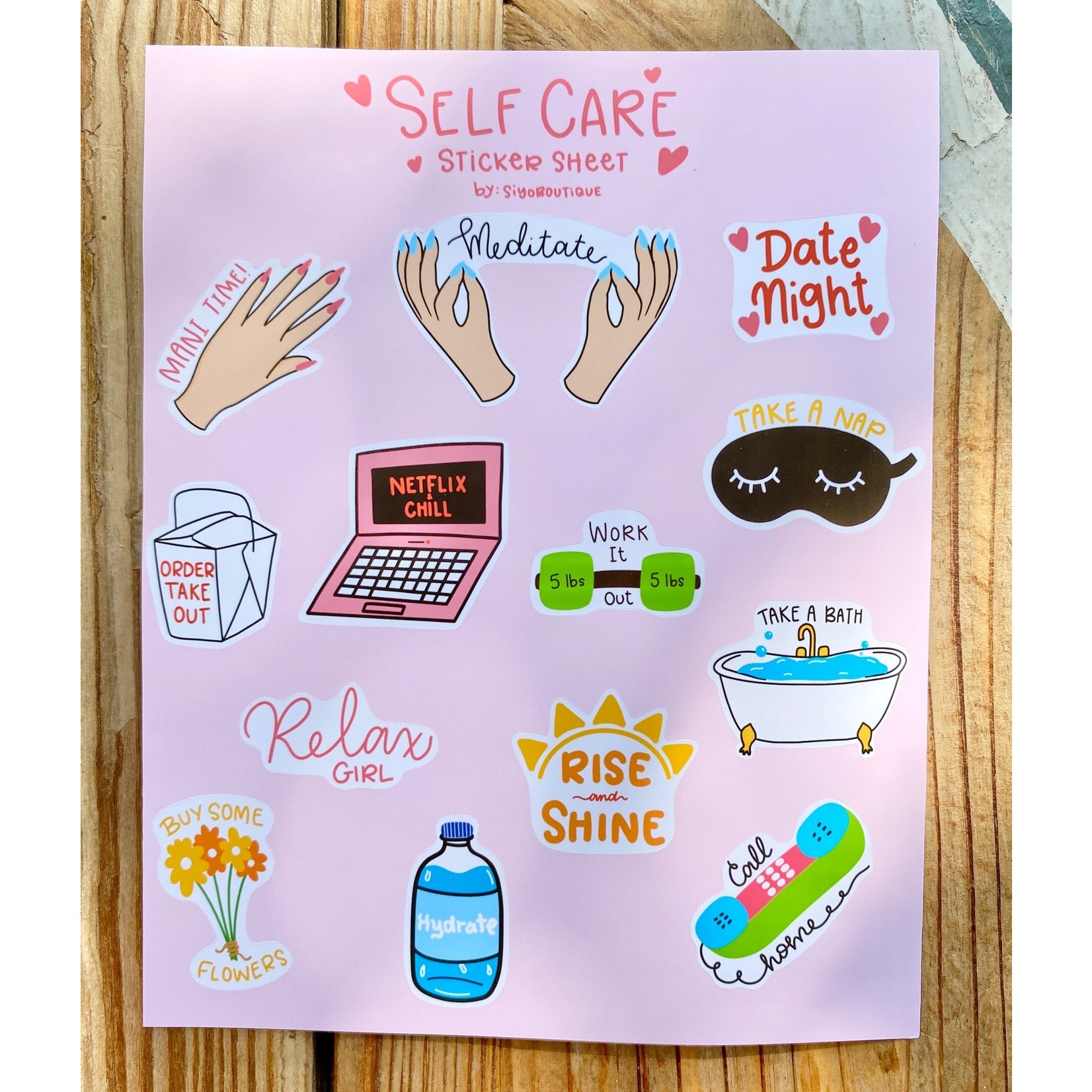 Siyo Boutique (BO) Planner Sticker Sheet Sets