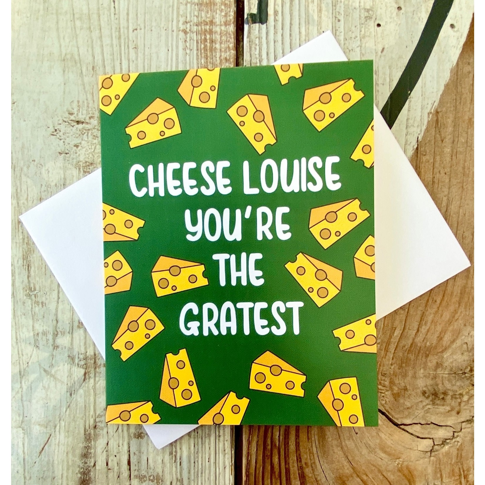 Fiber and Gloss Cheese Louise Gratest Greeting Card