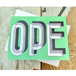 Fiber and Gloss OPE (Green) Greeting Card