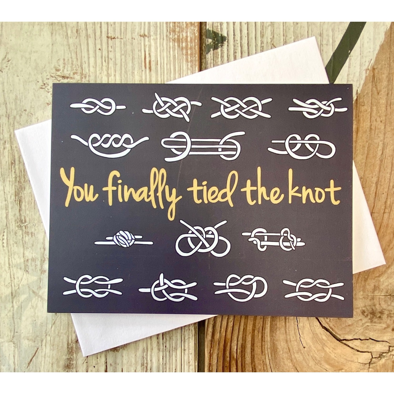 Fiber and Gloss Knots Finally Tied The Knot Greeting Card