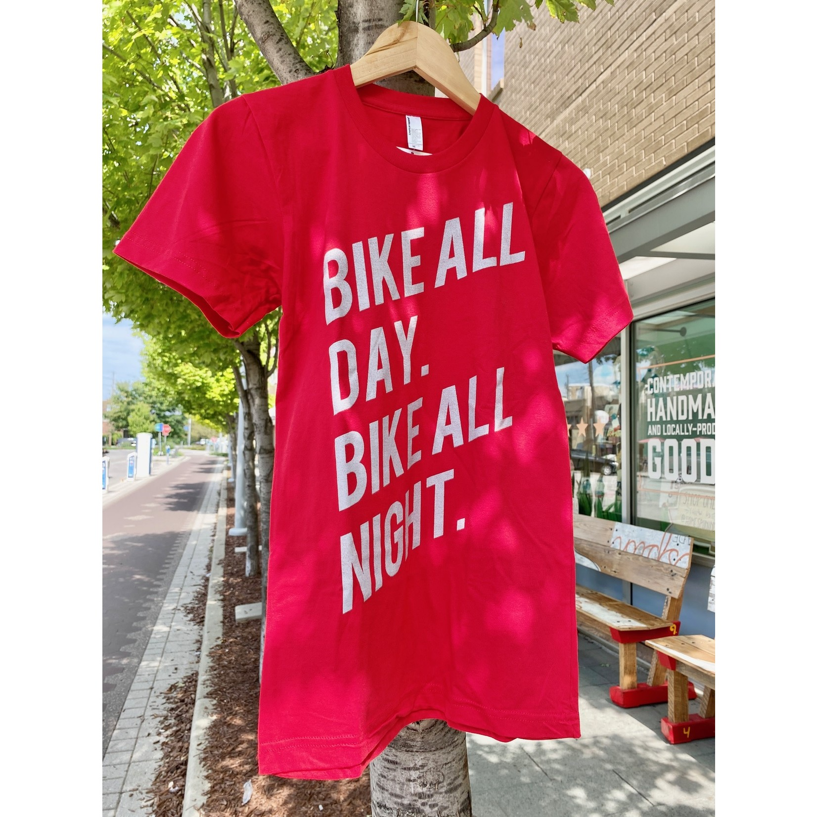 Dark Cycle Clothing Bike All Day Red Tee