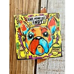 Eat, Drink, Be Indy French Bulldog Sticker