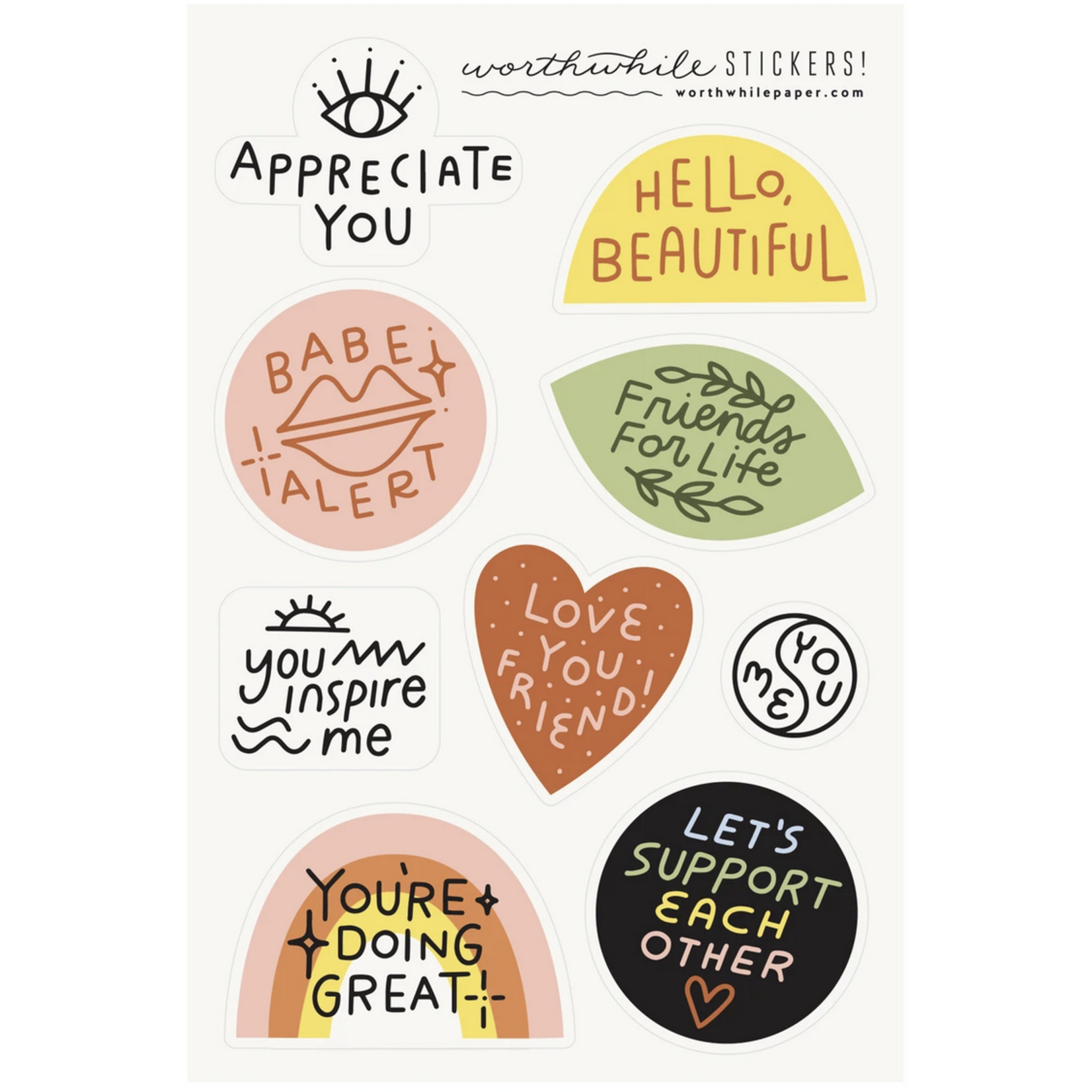 Worthwhile Paper Worthwhile Paper Sticker Sheet Sets