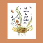 Little Truths Studio Let Nature Be Your Teacher 11x14 Art Print