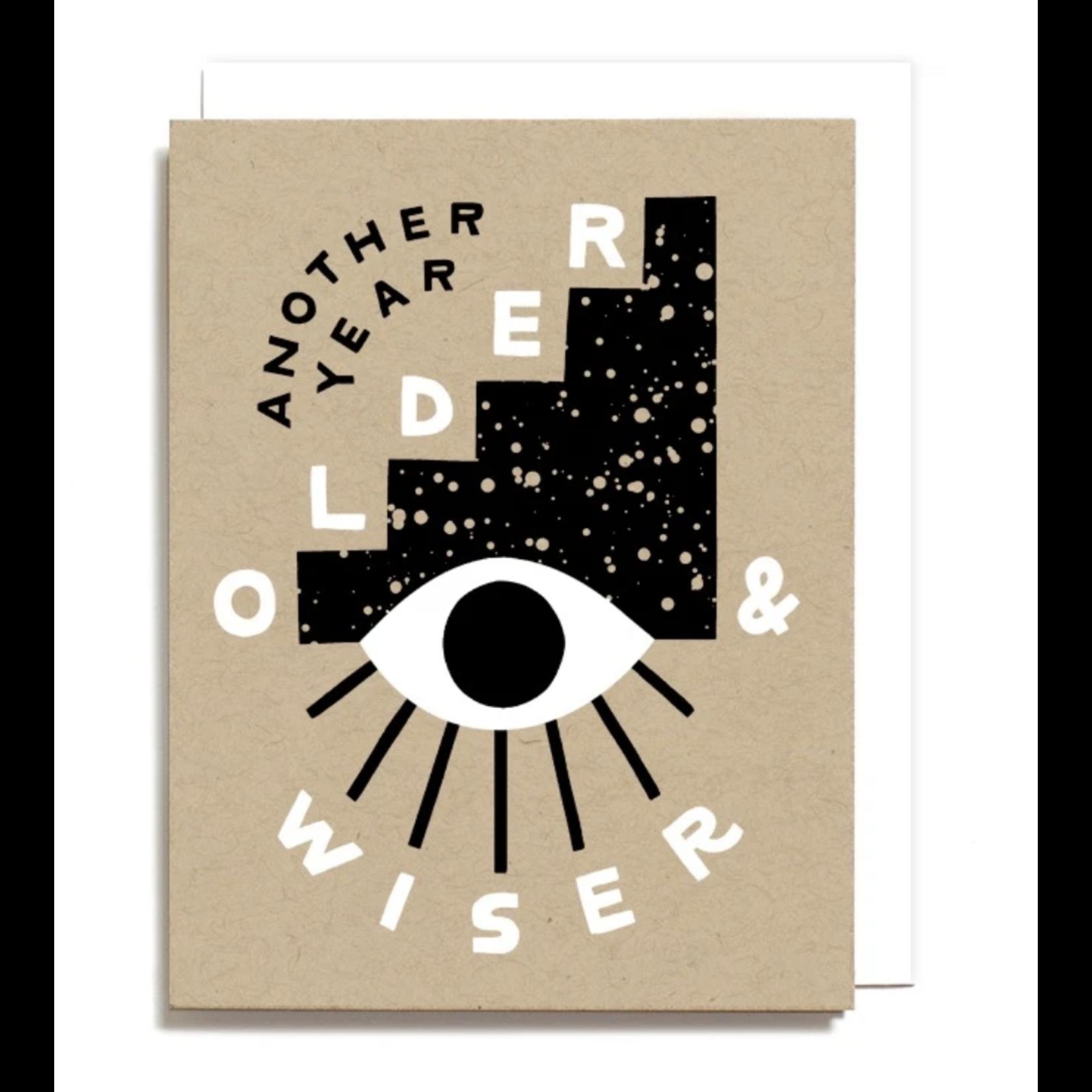 Worthwhile Paper Older & Wiser Birthday Eyeball Greeting Card