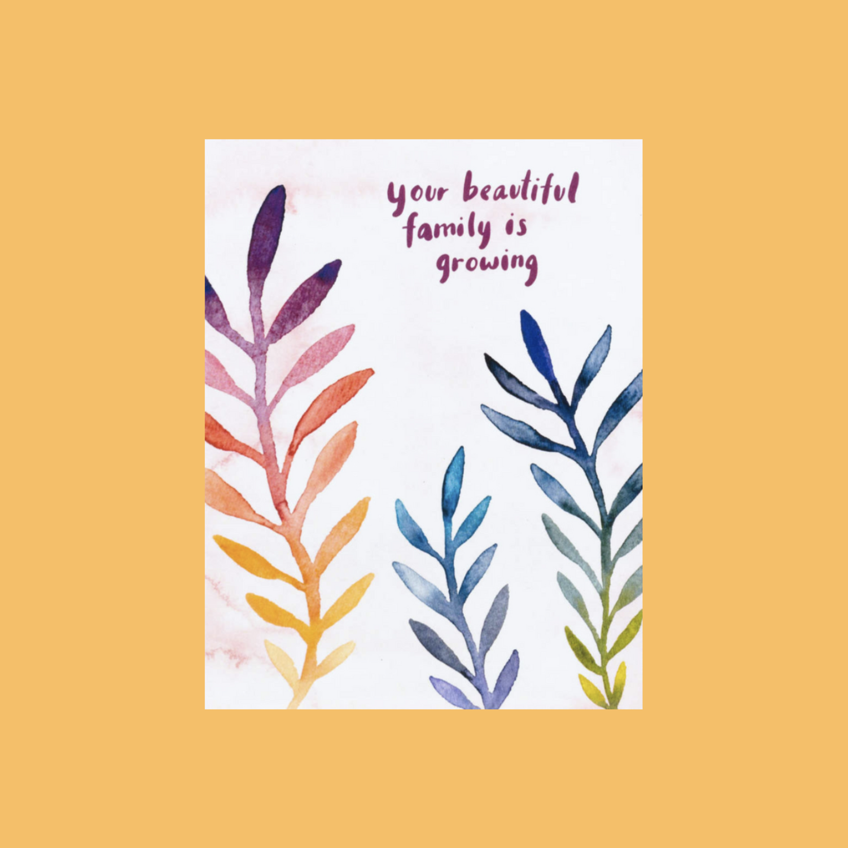Little Truths Studio Beautiful Family Growing Greeting Card