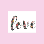 Haven Paperie Floral Letters Love Greeting Card