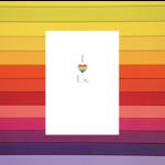 Design With Heart (QO) I Love Us Rainbow Heart Greeting Card