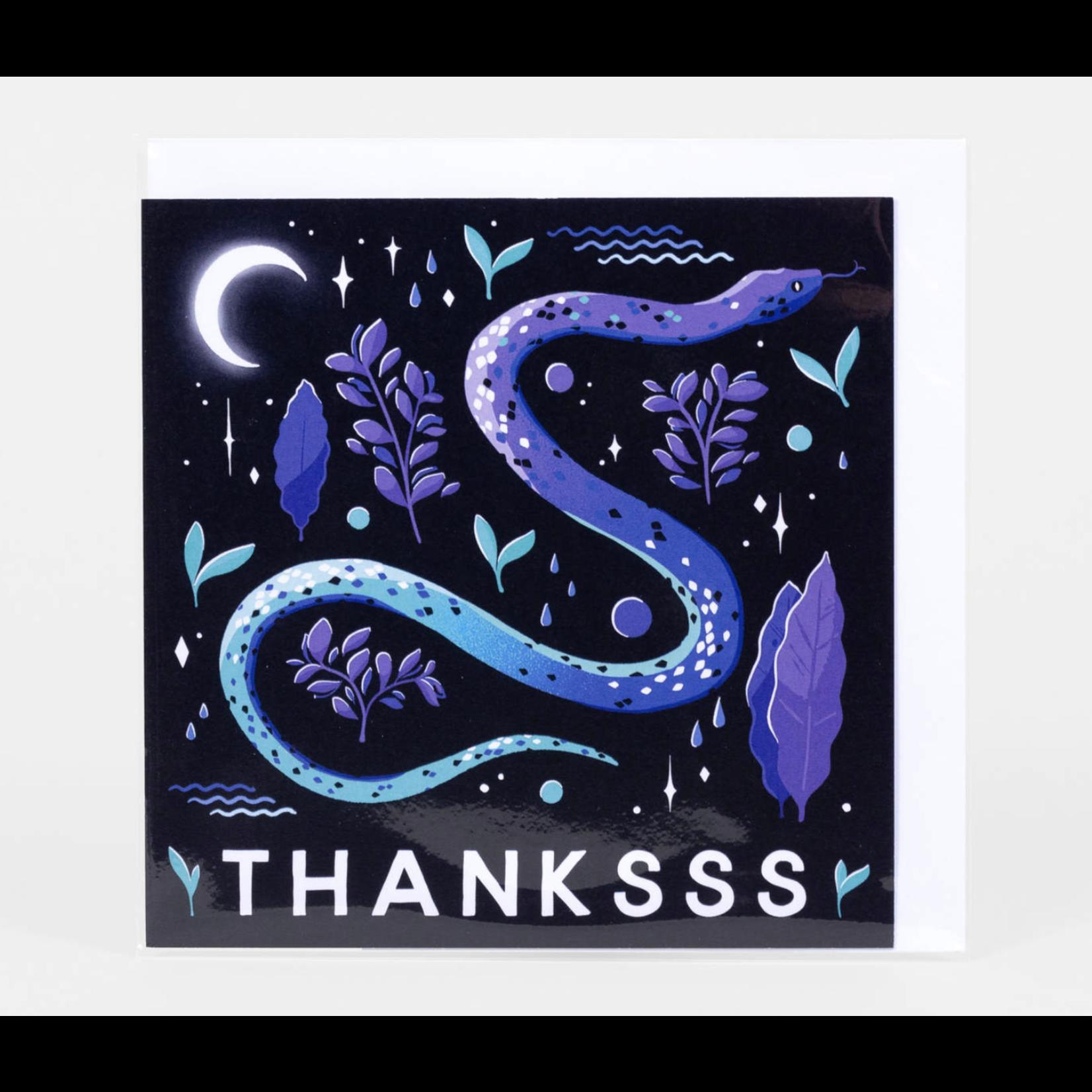 Papio Press Thanksss Snake Greeting Card