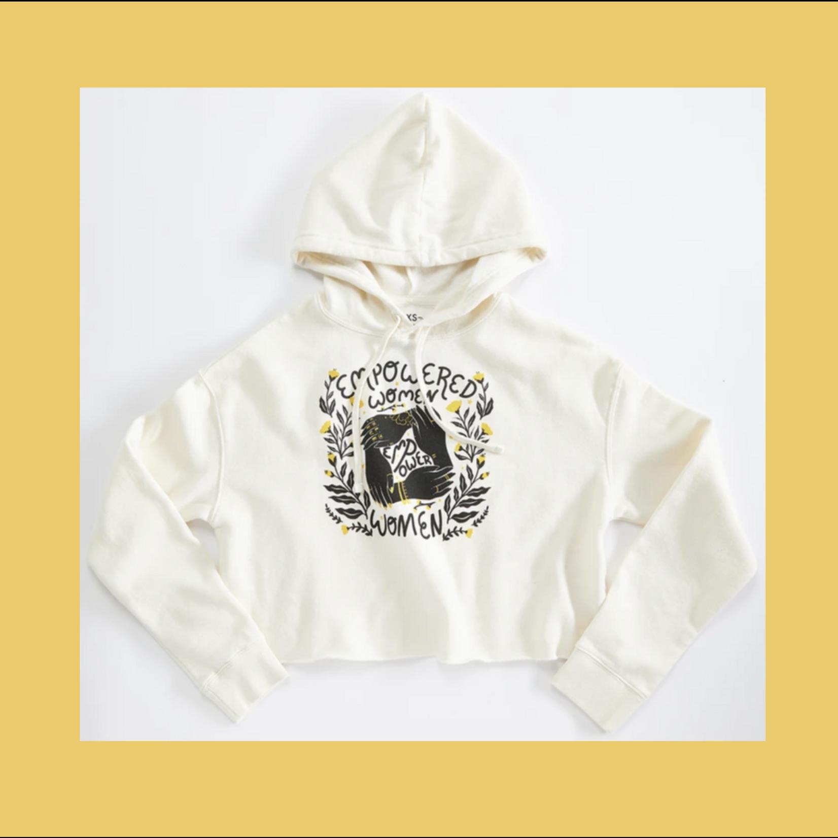 Orchard Street Apparel Empower Women Ivory (Ladies) Crop Sweatshirt