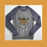 Orchard Street Apparel Easy Tiger Vintage Grey/Navy Raglan Sweatshirt