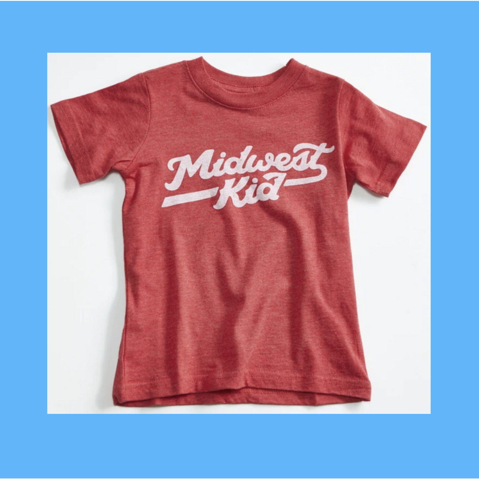 Orchard Street Apparel Midwest Kid Heather Red Toddler + Youth Tee