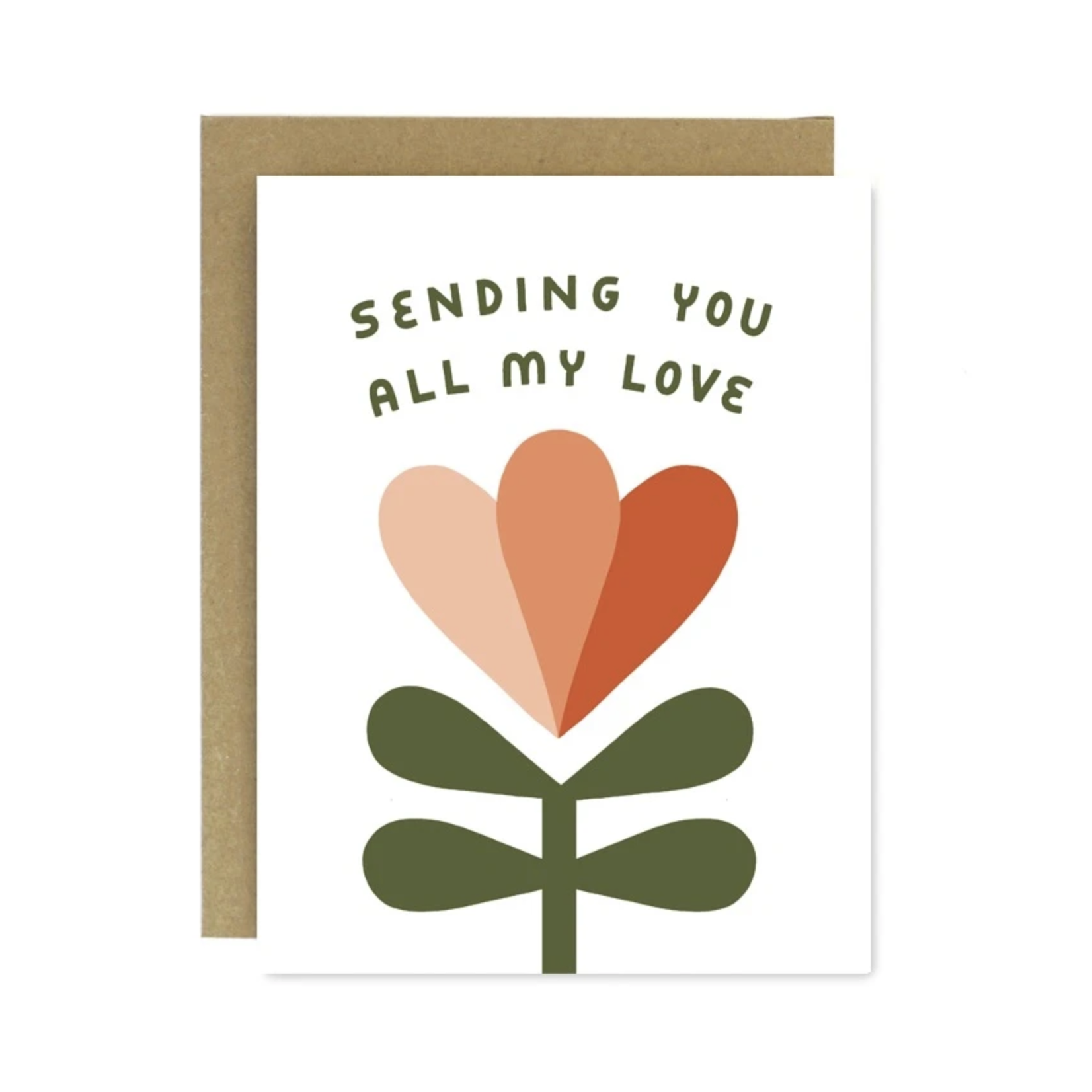 Worthwhile Paper Sending You All My Love Tulip Greeting Card