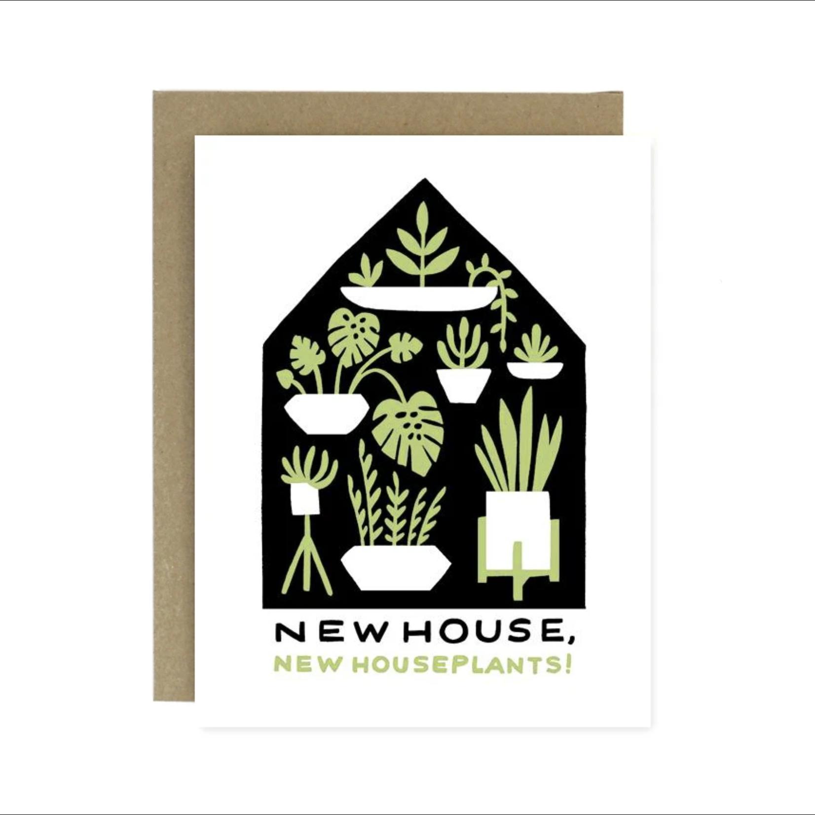 Worthwhile Paper Houseplants Housewarming Greeting Card