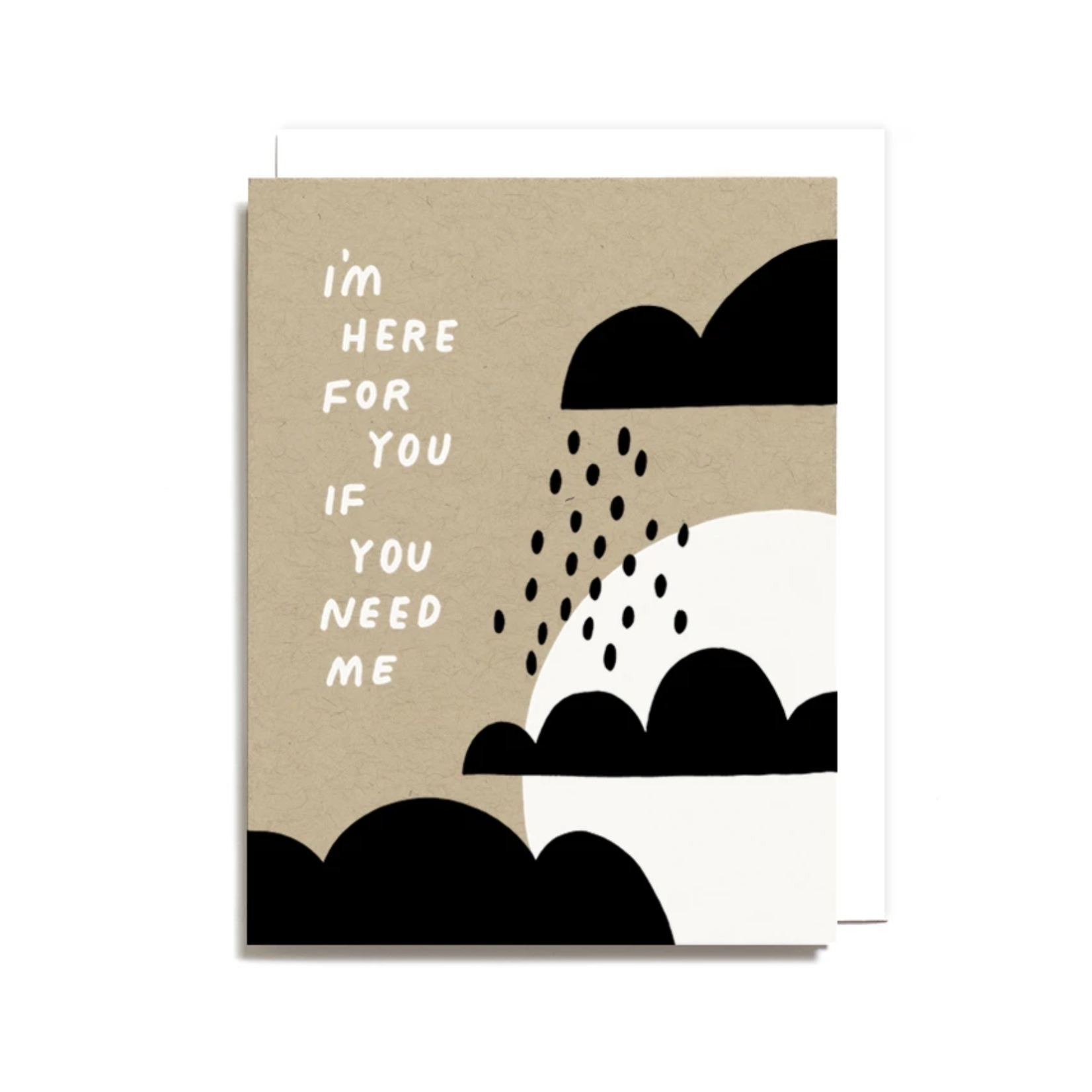 Worthwhile Paper I'm Here For You If You Need Me Clouds Greeting Card