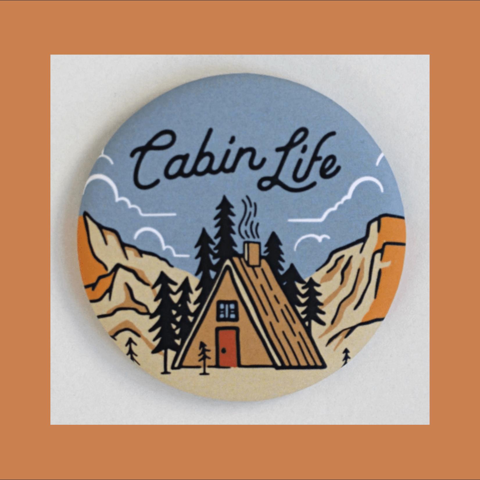 Tender Loving Empire Cabin Life A-Frame Round Magnet