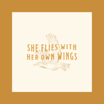 Tender Loving Empire She Flies With Her Own Wings Bird 10x10 Art Print