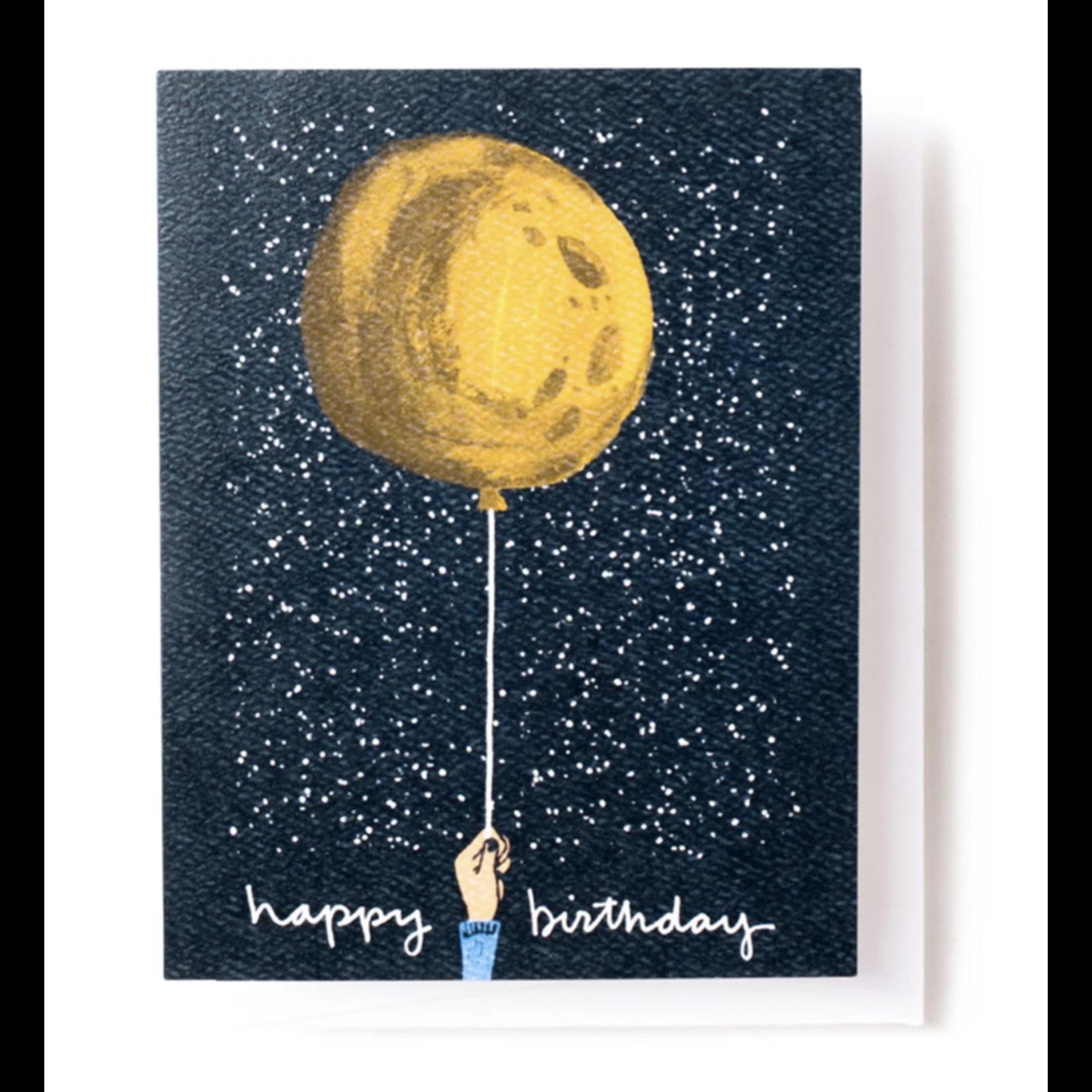 Tender Loving Empire Birthday Moon Balloon + Stars Greeting Card