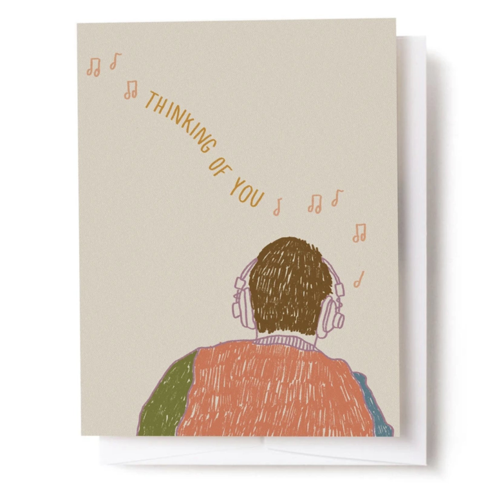 Tender Loving Empire Thinking Of You Music Headphones Greeting Card