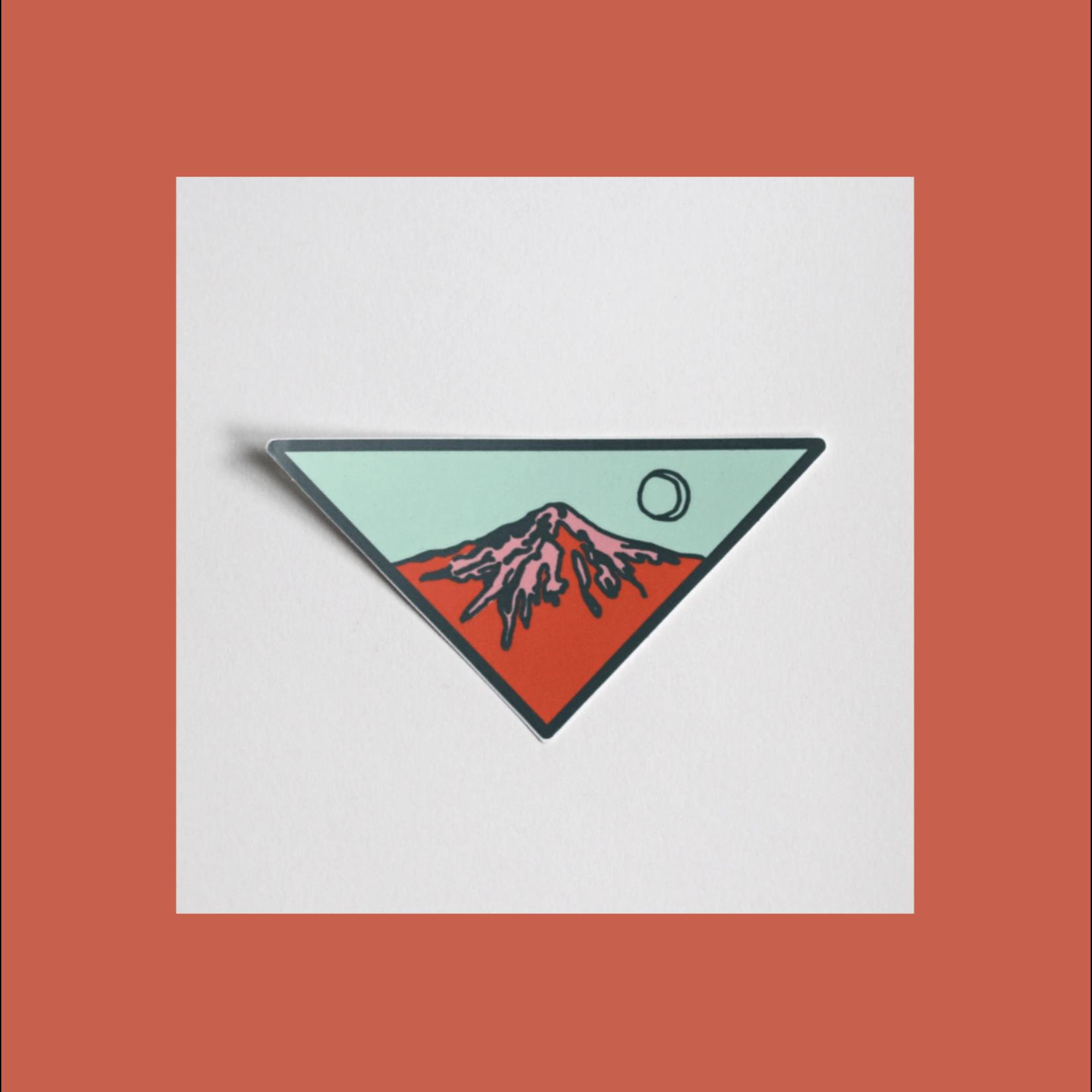 Tender Loving Empire Triangle (Red) Mountain Sticker