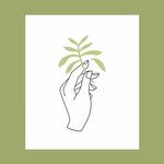 Worthwhile Paper Delicate Balance Hand + Plant 8x10 Art Print