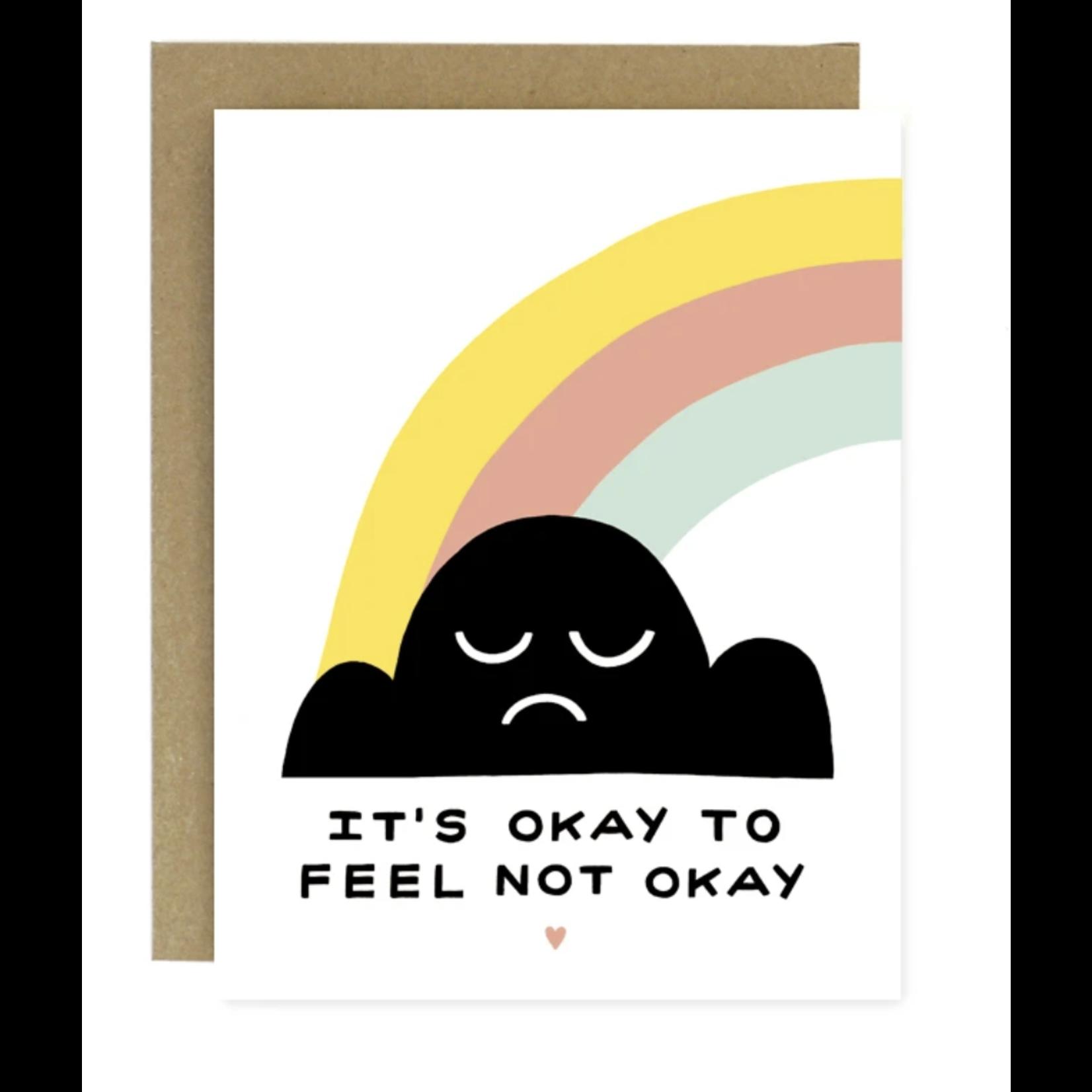 Worthwhile Paper Okay To Feel Not Okay Cloud Rainbow Greeting Card