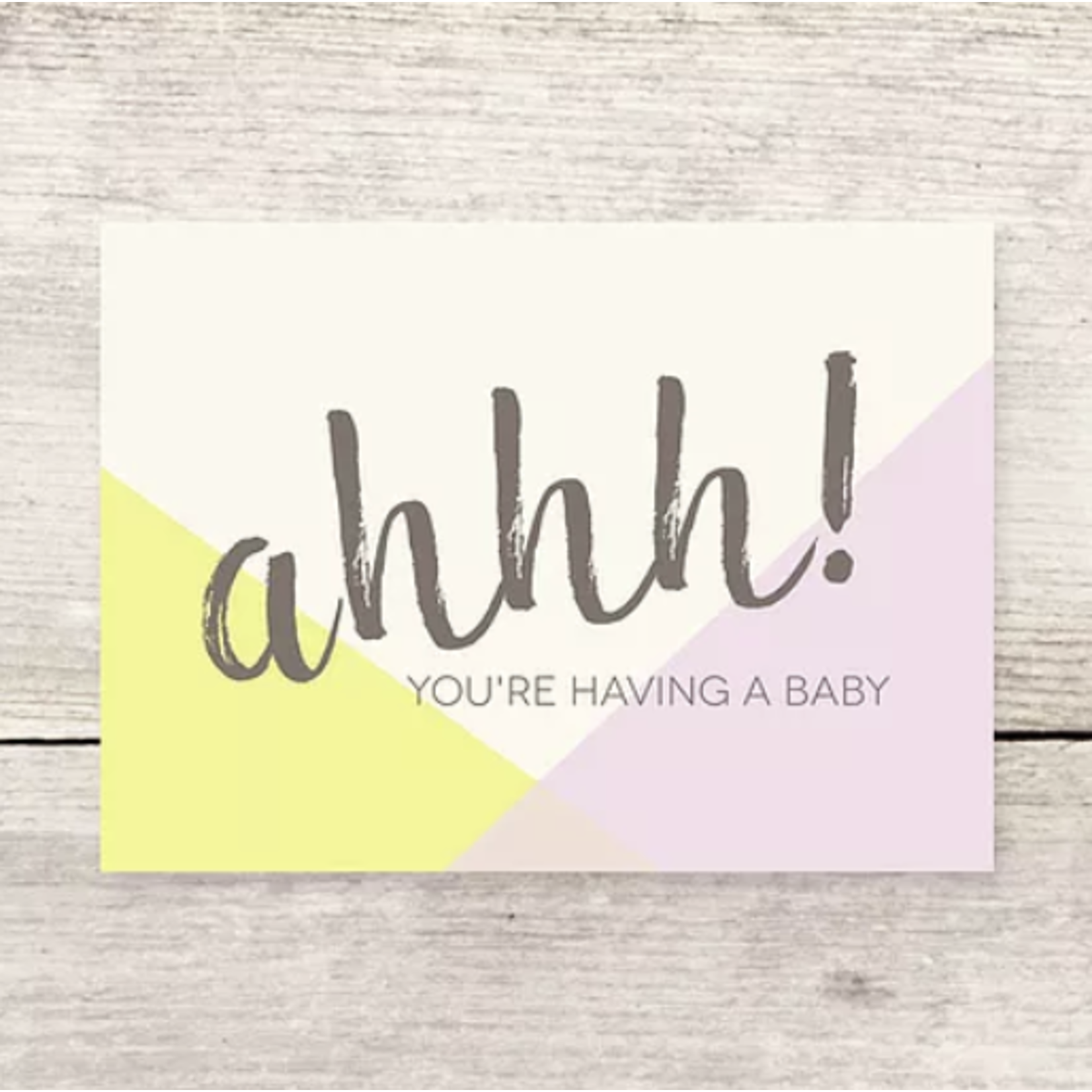 Haven Paperie Ahhh! Baby (Pastels) Greeting Card