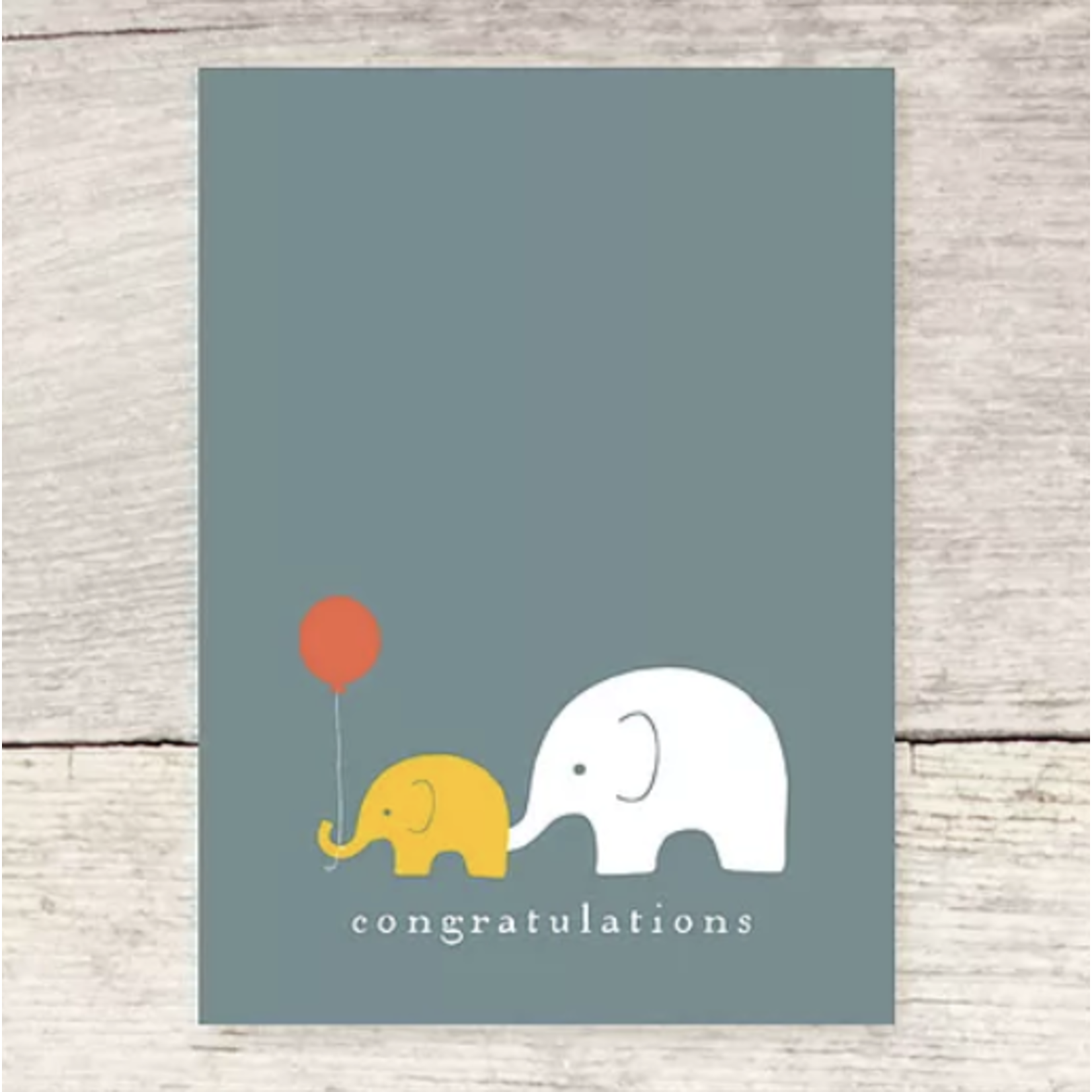 Haven Paperie Congratulations Elephants Red Balloon Greeting Card