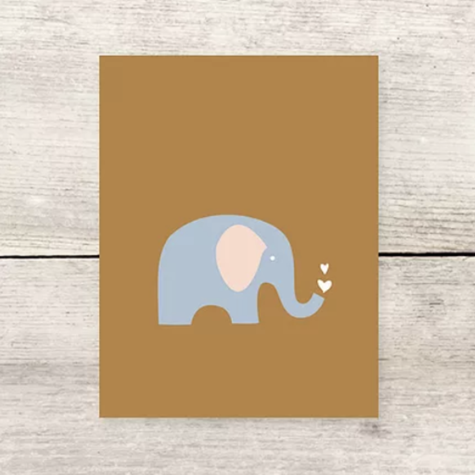 Haven Paperie Elephant Hearts (Tan) Greeting Card