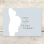 Haven Paperie Congrats On Growing A Tiny Human Greeting Card