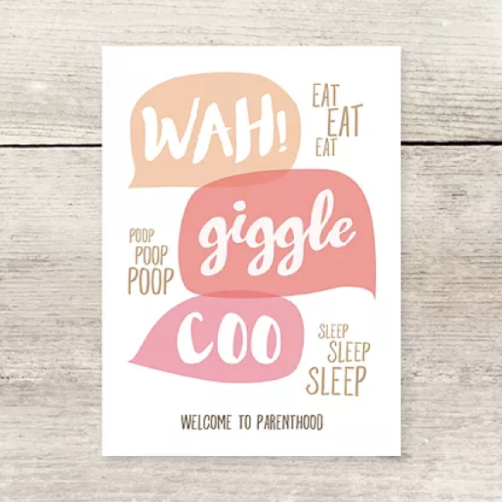 Haven Paperie Wah! Giggle Coo Welcome to Parenthood Greeting Card