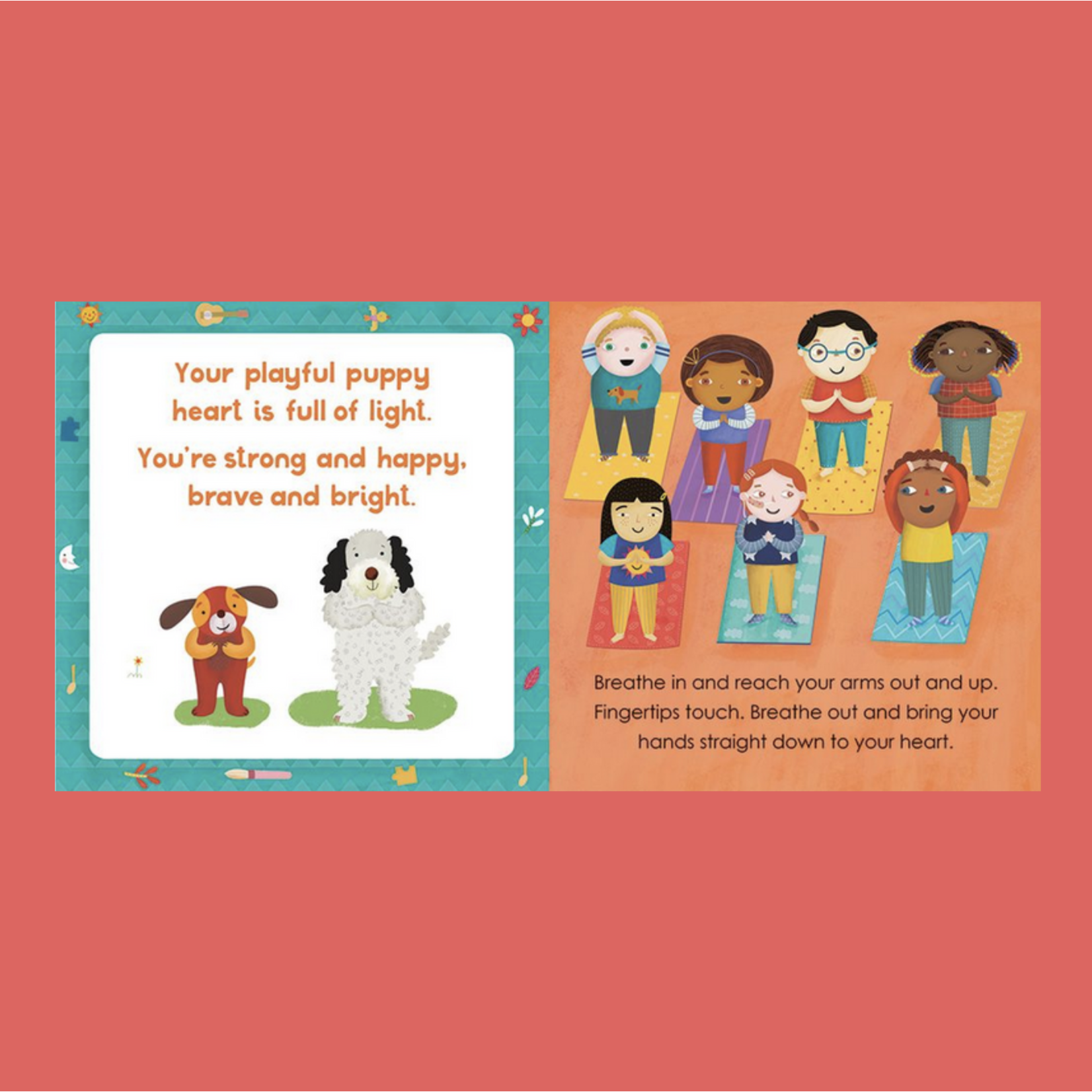 Yoga Tots: Strong Puppy Board Book - Tessa Strickland