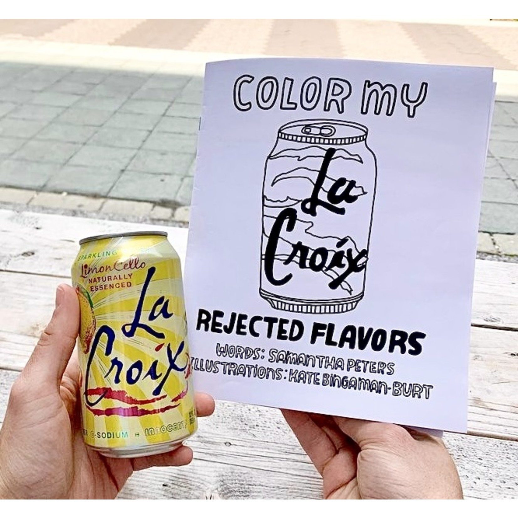 Kate Bingaman Burt Color My La Croix Zine / Coloring Book