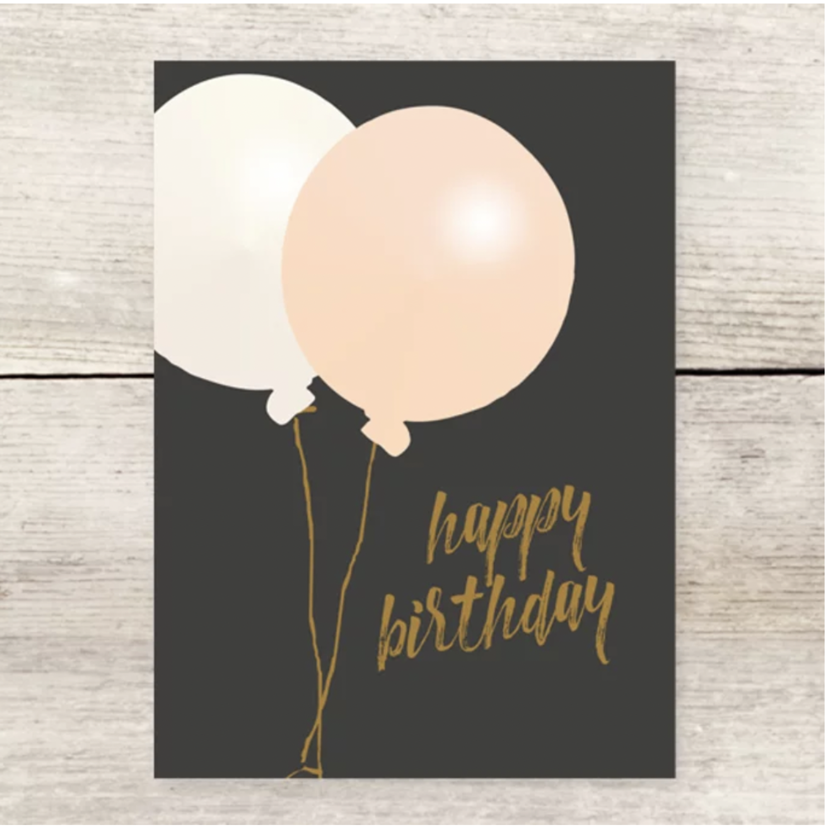 Haven Paperie Birthday Two Oversized Balloons (Black) Greeting Card