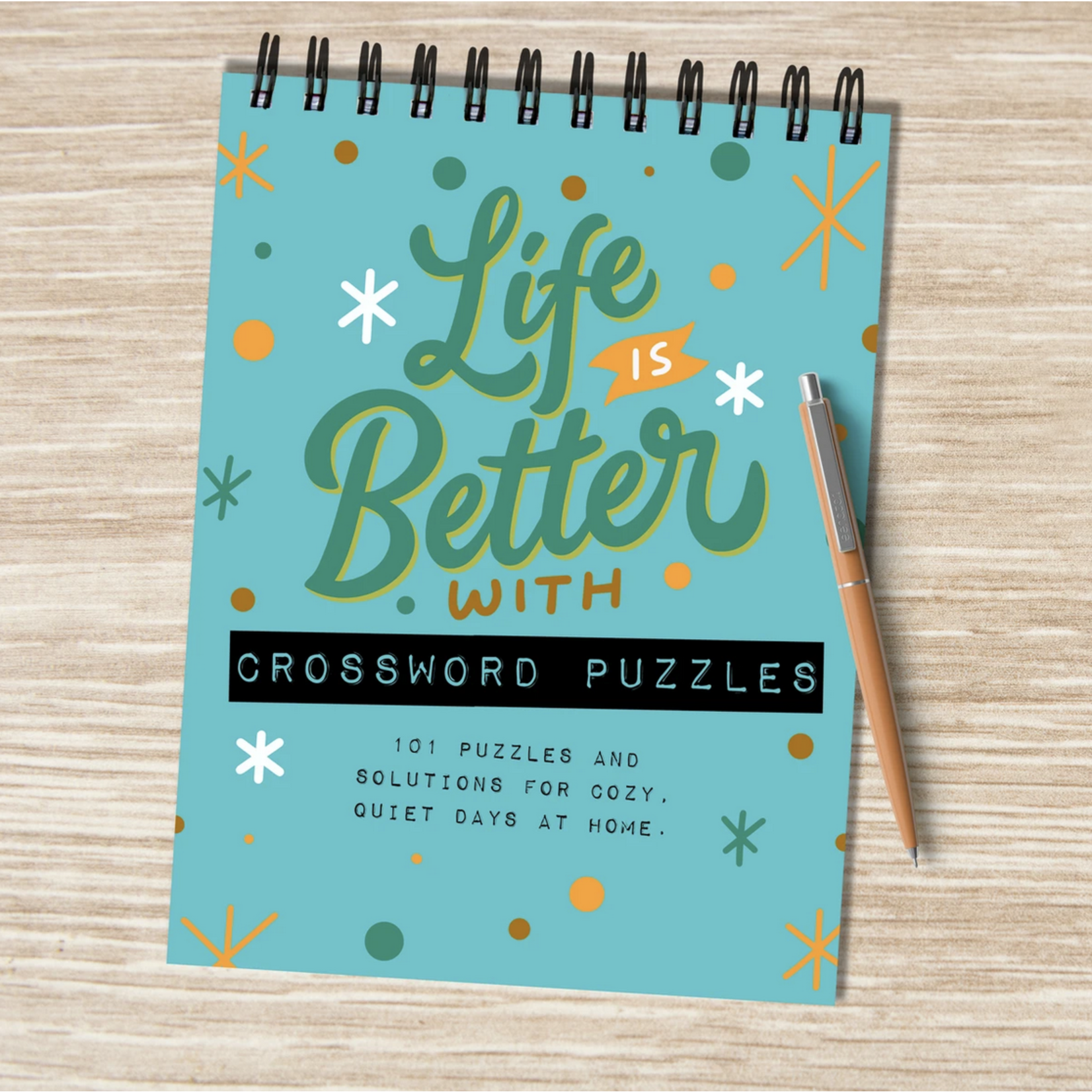 TF Publishing Life Is Better With Crossword Puzzles Spiral Pad