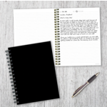 TF Publishing Classic Black Open-Dated Spiral Journal
