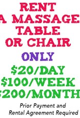 Massage Table or Chair Rental